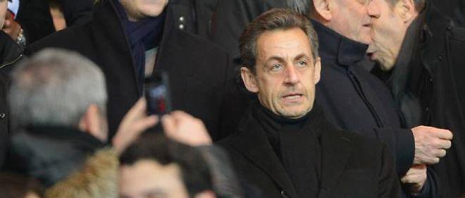 Nicolas Sarkozy au Parc des princes, 24 février 2013.