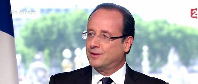 Francois Hollande sur France 2 le 14 juillet 2012.