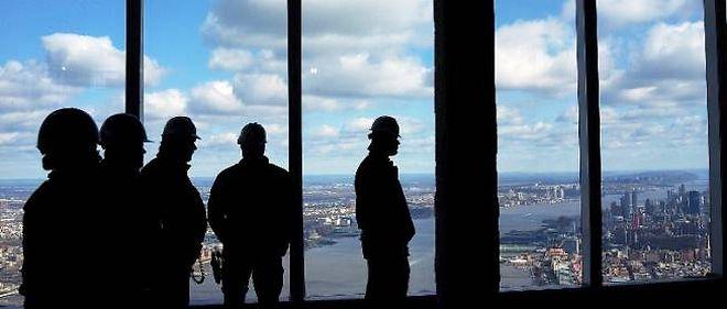 """La vue depuis le 100e étage du """"One World Trade Center""""."""