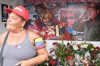 Elisabeth voue une admiration sans limite au président vénézuélien disparu Hugo Chávez. ©Claire Meynial