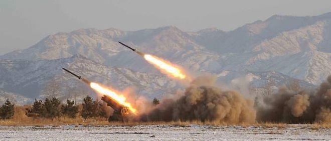 Tirs de missiles nord-coréens en 2009 (photo d'illustration).