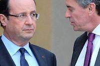 François Hollande et Jérôme Cahuzac, le 4 janvier dernier à l'Élysée. ©Miguel Medina / AFP