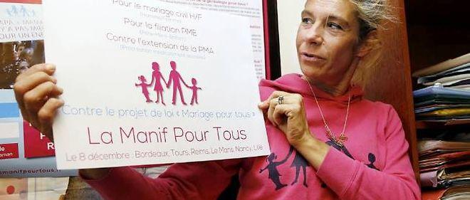Frigide Barjot a pris la tête des anti-mariage homo.