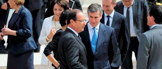 Jéôme Cahuzac et François Hollande, à l'Élysée, le 4 juillet 2012.