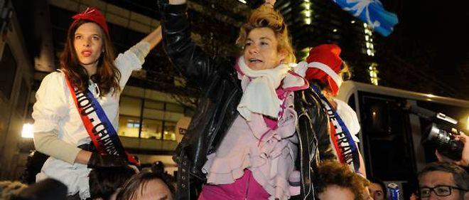 Frigide Barjot, chef de file de La Manif pour tous,  avait appelé à ce nouveau rassemblement dans les rues de Paris vendredi soir.
