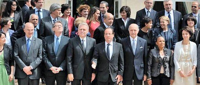 Le gouvernement Ayrault II, le 4 juillet 2012.