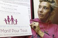Frigide Barjot a pris la tête de la croisade anti-mariage gay. ©François Guillot
