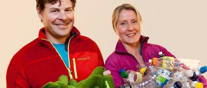 Jorgen Jorgensen, patron de Norrona, et Randi Haavik Varberg, responsable marketing chez Norsk Resirk, ont fait appel à Polartec pour concevoir leur polaire 100% écolo.