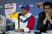 Le leader de l'opposition Henrique Capriles, le 16 avril 2013 à Caracas. ©Boris Vergara