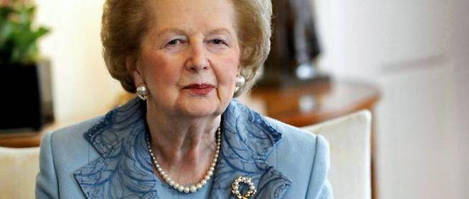 Margaret Thatcher à Londres, en juin 2010.