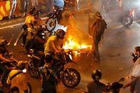 Les violences se multiplient à Caracas après l'élection de Maduro comme président du Venezuela. ©Amanda Perobelli