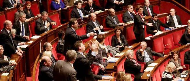 L'hémicycle lors de l'ouverture du débat sur le projet de loi autorisant le mariage homosexuel.
