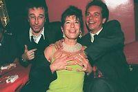 Aux Bains, Frigide Barjot, Laurent Petit-Guillaume et Basile de Koch en 1997 ©Isabelle Simon
