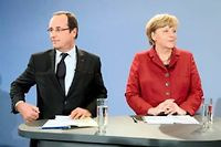 Francois Hollande et Angela Merkel à Berin, le 21 janvier 2013. ©Bertrand Langlois