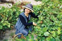 Marie-Josée Nat, dans son jardin de Bonifacio.