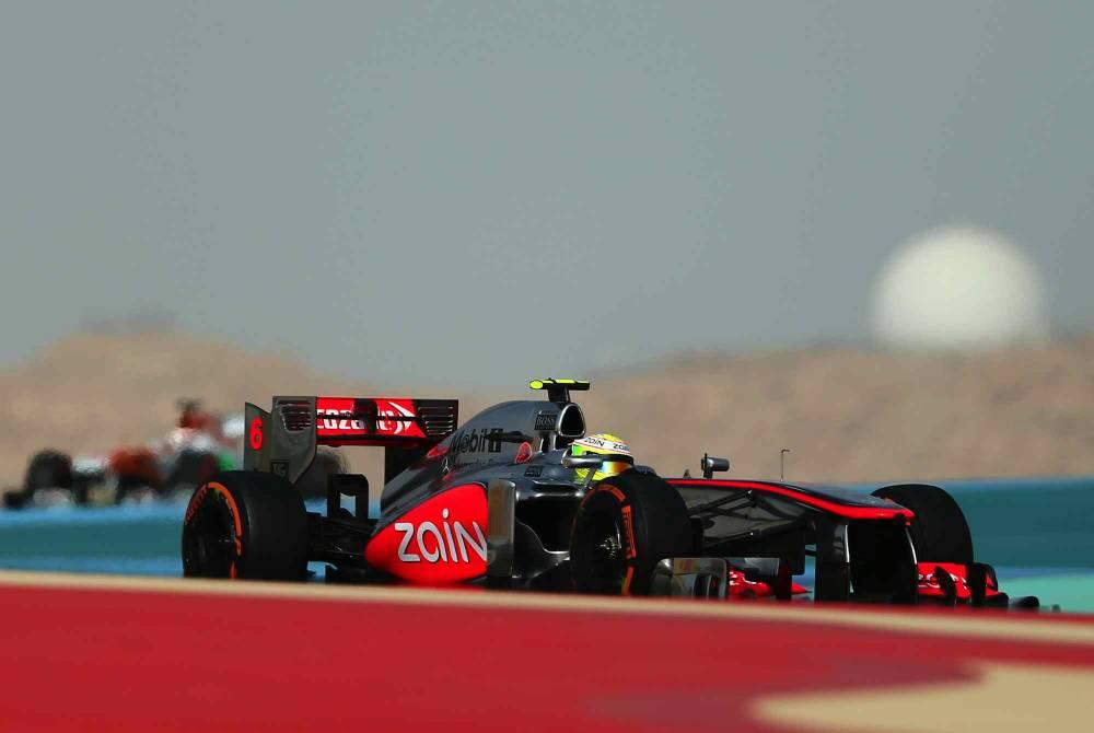 Sergio Pérez, durant le Grand Prix de Bahreïn. © MARWAN NAAMANI / AFP ©  MARWAN NAAMANI / AFP