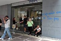 Photo prétexte, une banque en Grèce. ©LOUISA GOULIAMAKI