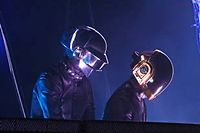 Profil bas pour le tandem Daft Punk ? En effet, leur dernier album est loin de faire l'unanimité. ©AFP
