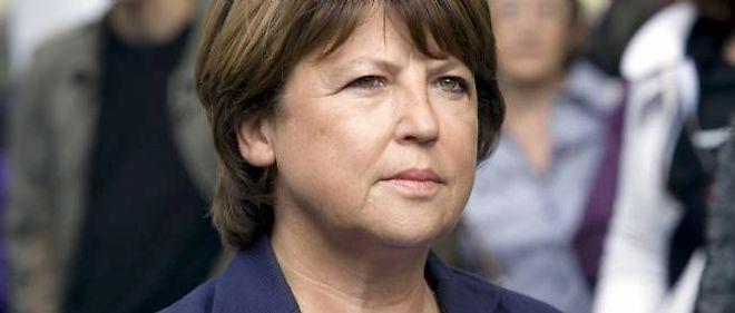 La maire de Lille, Martine Aubry.