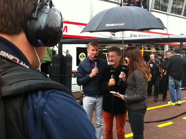 David Coulthard, ex-pilote de F1 et Eddie Jordan, ex-directeur d'écurie se retrouvent pour commenter le Grand Prix