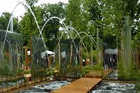 Que d'eau au Jardin éphémère Invert d'H20, Trophée Daum de la création paysagère. ©DR