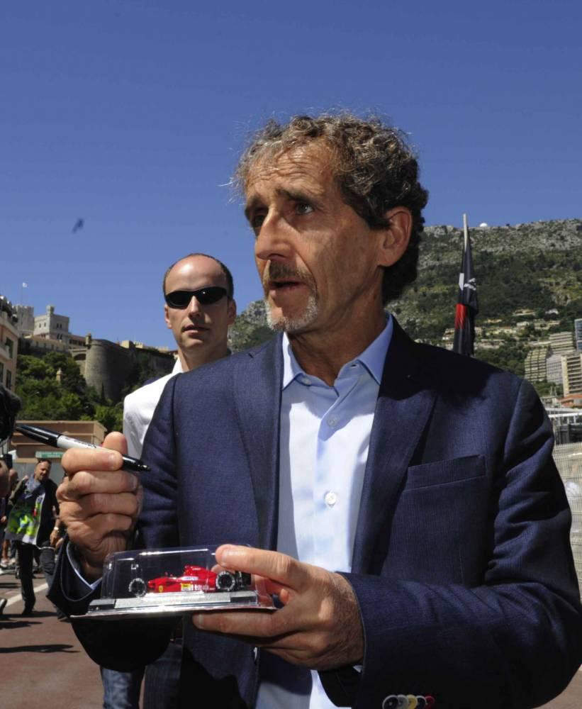 Alain Prost, durant le GP de Monaco, la semaine dernière. © BORIS HORVAT / AFP ©  BORIS HORVAT / AFP