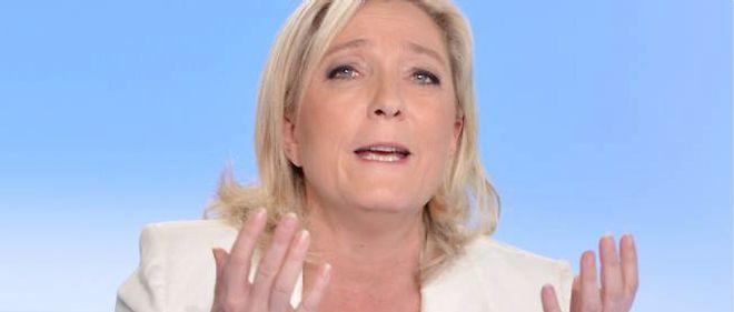 Marine Le Pen sur le plateau de France 5, le 19 mai 2013.
