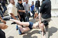 Trois Femen ont été interpellées le 29 mai à Tunis. ©Fethi Belaid