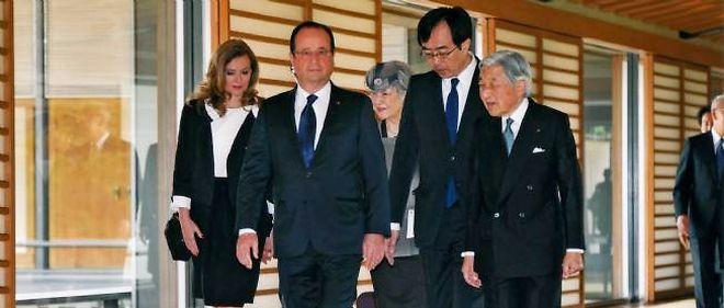 François Hollande est en voyage officiel au Japon.