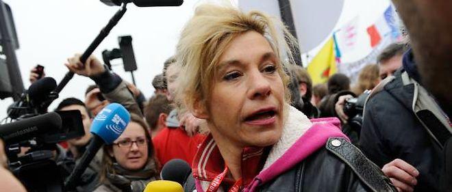 """Frigide Barjot lors des manifestations contre le """"mariage pour tous""""."""