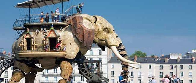 L'éléphant mécanique de François Delarozière.