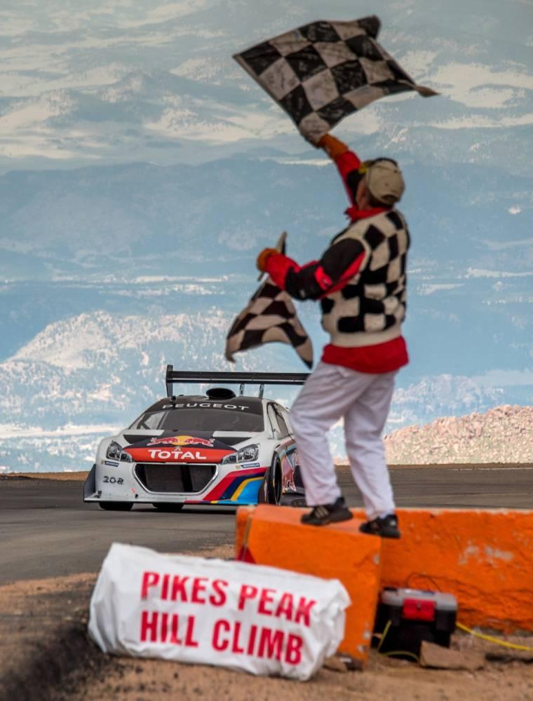 Une montée magistrale à bord d'un engin terrifiant, mais que Loeb était en mesure de dominer