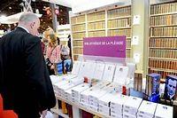 Paris, le 18 mars 2011, le stand Gallimard au Salon du livre de Paris. ©Christophe Morin