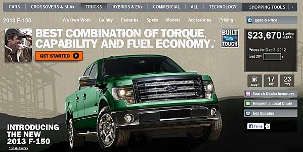 Le pick-up F150 reste une star du marché et Ford n'hésite pas à argumenter sur ses économies d'énergie.