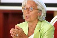 Christine Lagarde à Vilnius, le 18 juillet 2013. ©PETRAS MALUKAS