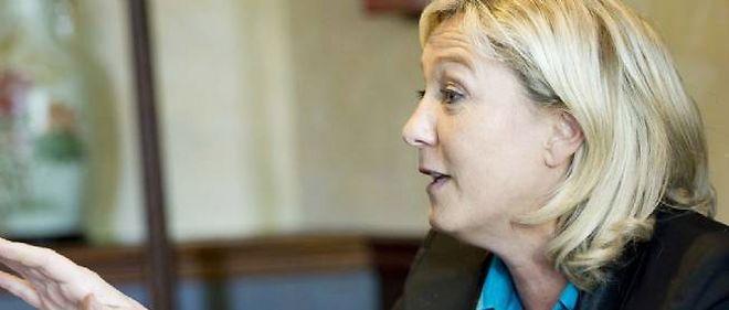 """Marine Le Pen dénonce un """"communautarisme délétère""""."""