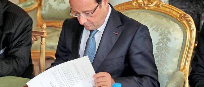 François Hollande a reçu les chefs des partis de la majorité à l'Élysée.