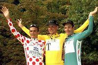 Erik Zabel (à droite), en compagnie de Richard Virenque et Jan Ullrich, sur le Tour de France 1997. (Image d'illustration) ©Sipa