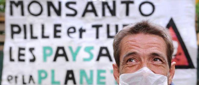 Une manifestation anti-OGM en 2008 (photo d'illustration).