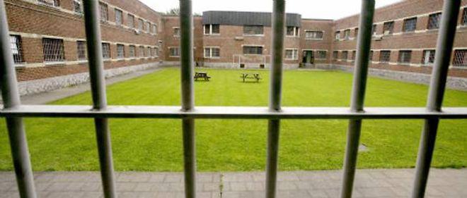 Cour intérieure d'une maison d'arrêt.(Image d'illustration)