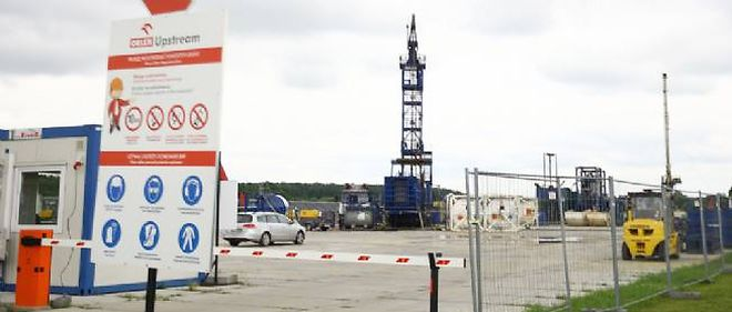 Un site de forage de gaz de schiste, en Pologne (illustration).