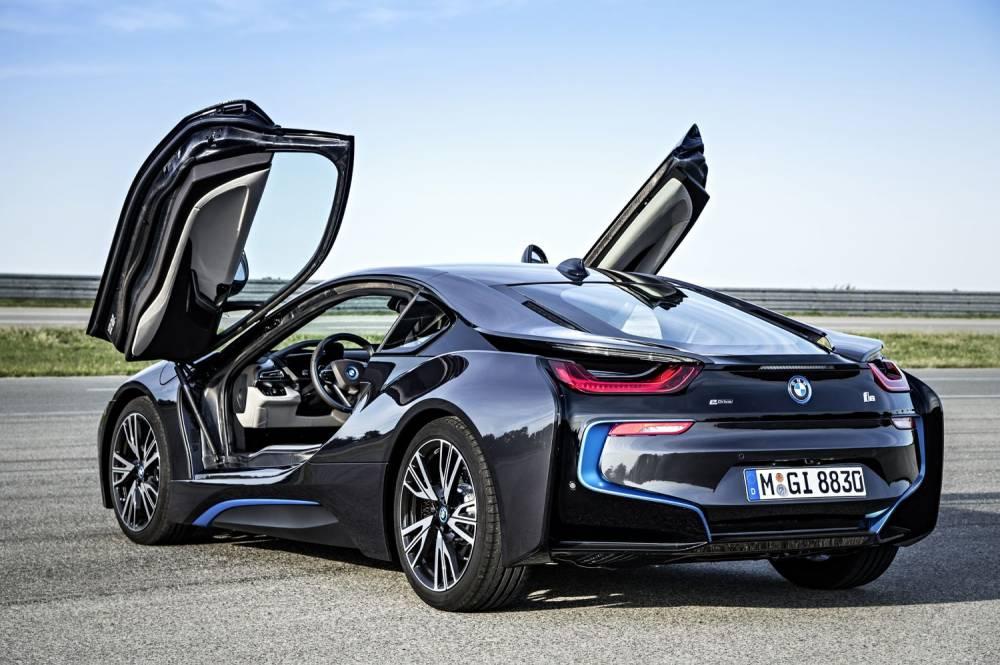 La BMW i8 sembe tout droit sortie d'un film d'anticipation. ©  BMW