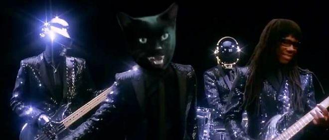 """Une parodie du clip """"Get lucky"""" de Daft Punk, avec Pharrell Williams et Nile Rodgers, par The Black Cat."""