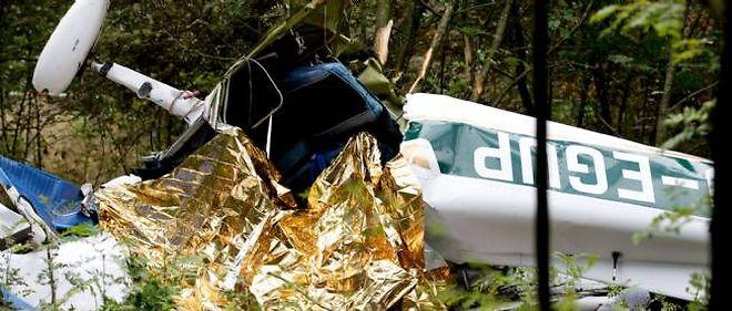 Photo d'illustration d'un crash dans une forêt allemande en 2007.