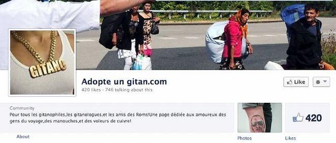 """Une plainte pour """"incitation à la haine raciale"""" à l'encontre d'une page intitulée Adopteungitan.com sur Facebook a été déposée jeudi."""