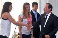 François Hollande lors de sa visite pour les emplois francs à la Roche-sur-Yon. ©Frank Perry