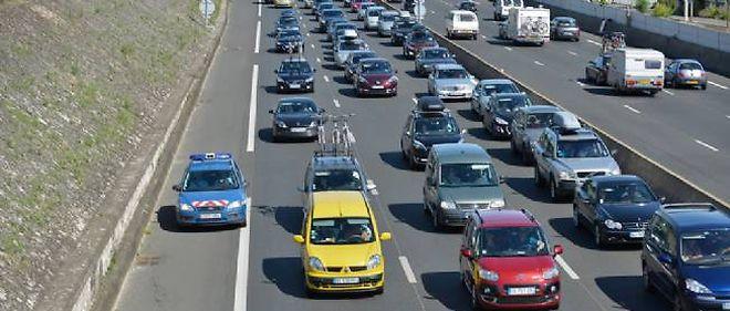 Des bouchons sur une autoroute (illustration).