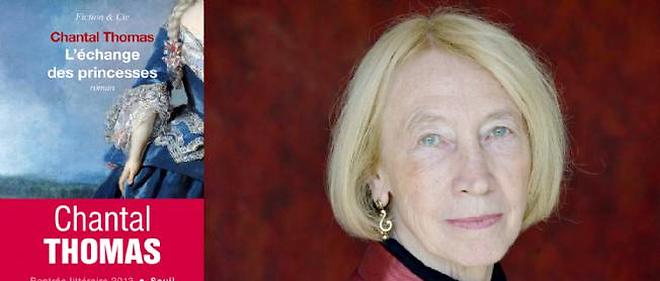 """Chantal Thomas et son dernier livre, """"L'échange des princesses"""", éd. Seuil, août 2013."""