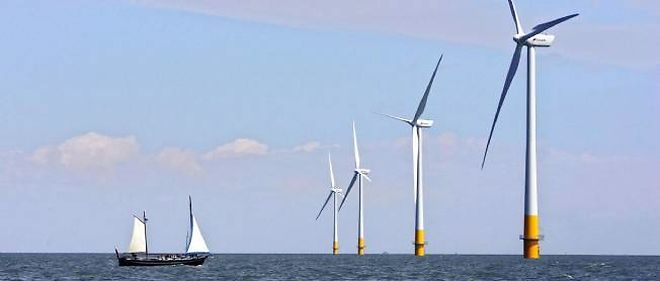 Des éoliennes en mer (photo d'illustration).