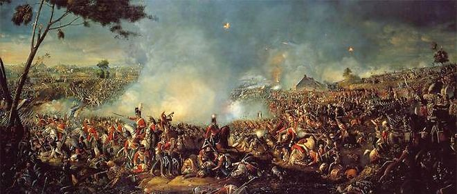 La bataille de Waterloo.